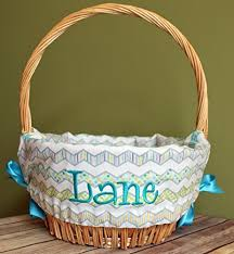 easter basket liners personalized personalized easter basket liner multi chevron