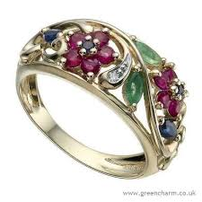 coloured gemstones rings images Multi gold rings 9ct diamond coloured gemstone ring 100 00 jpg