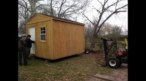 Derksen Portable Finished Cabins At Enterprise Center Youtube Time Lapse Of Portable Building Setup Youtube