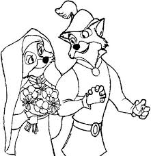 robin hood wedding coloring pages place color