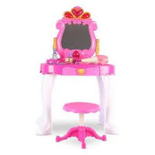 Minnie Mouse Vanity Mirror Disney Princess Vanity Table Lights And Sounds With Stool And