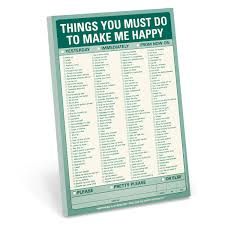 knock knock things you must do to make me happy pad 25 off
