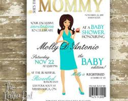 smurfs baby shower invitations magazine invitation etsy