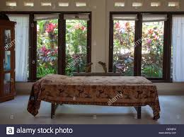 Asia Villa by Massage Table Villa Window Bali Indonesia Relax Asia Wood Wooden