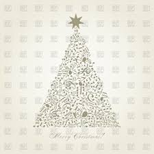 christmas tree made of musical notes vector clipart image 81088