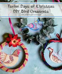 twelve days of diy bird ornament free tutorial