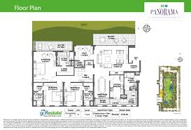 The Panorama Floor Plan by M3m Panorama