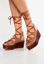 diana shoes see by chloé diana wedge sandals mandorla shoes brown see
