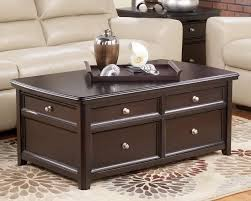 Espresso Side Table The Espresso Lift Top Coffee Table Popular Round For In Ideas Best