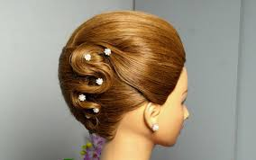 Fancy Updo Hairstyles For Long Hair by French Twist Hairstyle For Long Hair Elegant Updo Youtube