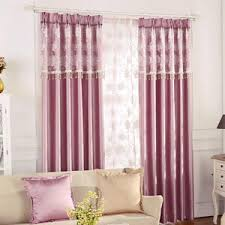 Pink And Purple Curtains Pink Cloud Print Polyester Insulated Curtains