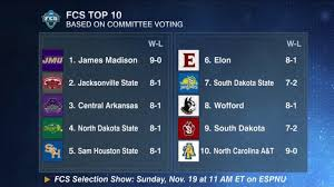 fcs insider weekly notes nov 9 fcsinsider com ncaa division i