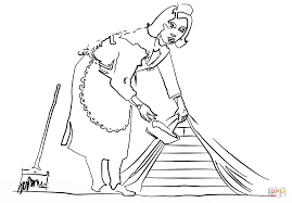 french maid by banksy coloring page free printable coloring pages