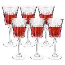 new rcr crystal timeless red wine goblet set 6pce 298ml ebay