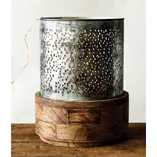 Hurricane Candle Holders Large Punched Metal Hurricane Candle Holder A Cottage In The City
