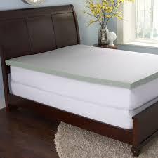 sharper image 3 inch gel enriched memory foam mattress topper