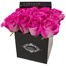 flowers in a box grand hot pink floral couture box in mclean va l artisan
