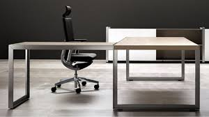 home design modern oikos l shaped desk with metal leg natural