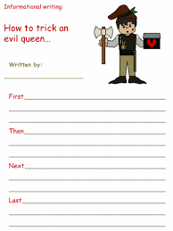 printable version of snow white snow white informational writing activities