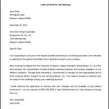 Intent Letter For Employment by Sample Letter Of Intent For A Job Within The Same Company Cover