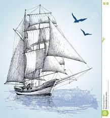 boat drawing stock vector image 75255277