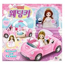 barbie toy cars little mimi wedding car toy set korean barbie doll wedding party