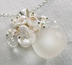 How To Make Jewelry From Sea Glass - sea glass jewelry by katie carrin artisan crafted with pearls