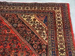 Bidjar Persian Rug Persian Handmade Wool Mahal Bidjar Red Black Blue Ivory Gold