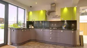 kitchen cabinets cherry finish wonderful curved cherry wood kitchen cabinets in lime green