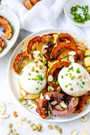 burrata toasts with caramelized delicata squash toasted pepitas