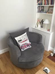 Large Swivel Chairs Living Room Dfs Vision Large Swivel Chair In Grey Good Condition 2 Years