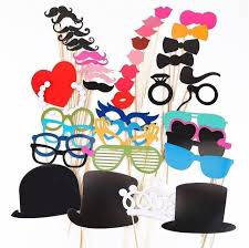 photo booth supplies 44 pcs lot colorful beard hats photobooth props for