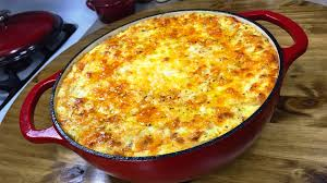 thanksgiving mac and cheese recipe the ultimate five cheese macaroni and cheese lodge enameled cast