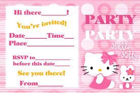 Birthday Invitation E Card Hello Kitty Birthday Invitations Invitations Templates