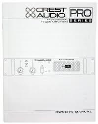 amazon com crest audio pro7200 3400 watt professional power