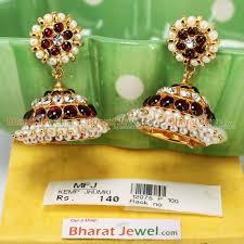temple kempu jumki bharatanatyam jewellery