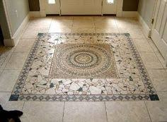 Mosaic Tile Installation Tiled Foyer Traditional Entry Around The House Pinterest