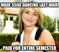 Strippers Meme - strip club summer school super teens magazine