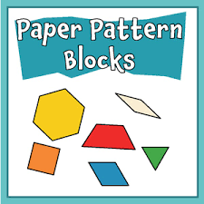 pattern block house template free paper pattern block templates printable pattern block shapes pdf