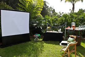 backyard movie projector backyard ideas