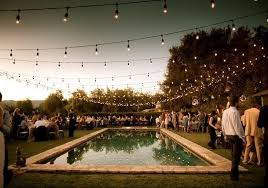 images of outdoor string lights outdoor string lighting for wedding reception with square swimming