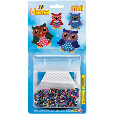 mini hama bead kits owl decoration kit