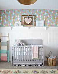 coral and teal nursery with a custom made name cutout by start at