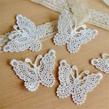 floral accessories wholesale 1yard guipure butterfly applique trimming lace ribbon