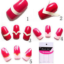 french tip nail art stickers ebay