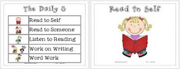 the daily five printables lil country librarian the daily 5 printable signs pocket chart