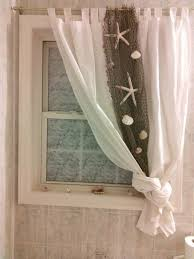 curtain ideas for bathroom windows beach themed curtain idea for bathroom beach bathroom ideas decor