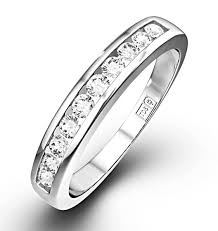 half eternity ring half eternity ring 0 20ct diamond 9k white gold item e3884