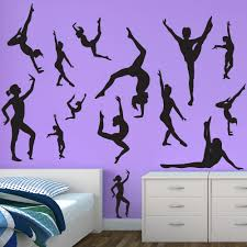Restickable Wallpaper by Gymnastics Decals Gymnast Wall Decal Sticker Genius