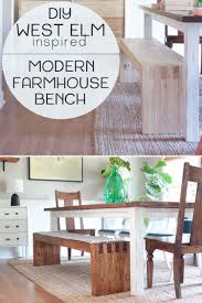 diy modern farmhouse bench west elm inspired southern revivals